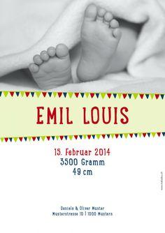 Geburtskarte A5 - Drapeau Wundervolle Geburtskarte…