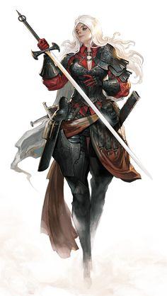 Fantasy Girl, Chica Fantasy, Fantasy Warrior, Fantasy Women, Fantasy Rpg, Female Character Design, Character Creation, Character Concept, Character Art