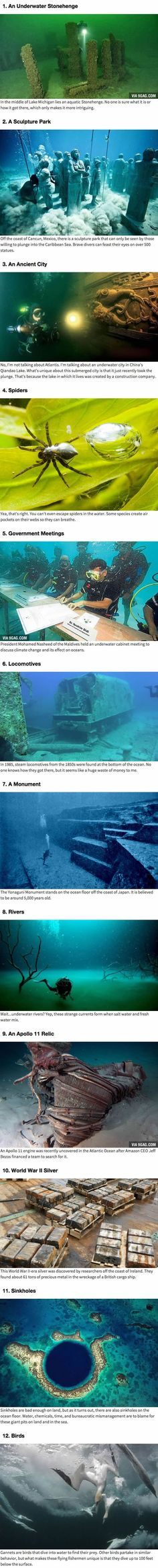 12 Weird Things That Have Been Found Hiding Underwater.