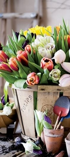 Country Decor | Spring Flower Arrangement with Tulips | Buyer Select Spring Decorating Ideas |