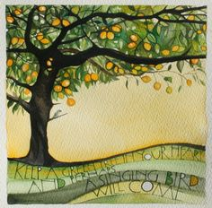 more lettering work « Sam Cannon Art Lime tree -t hall Watercolor Journal, Watercolor Paintings, Watercolours, Sam Cannon, Polychromos, Wow Art, Letter Art, Mellow Yellow, Art Plastique