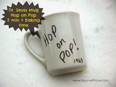 4 You With Love: Hop on Pop Mug (#CraftLightning #FathersDay)