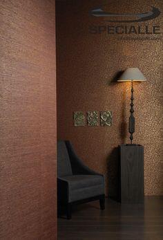 #Tapiz de fibra #Natural. #Sisal liso #Naranja y estampado con #Dorado. #Arquitectura #Decoracion #Interiorismo #Casa #Hogar #Ideas #InteriorDesign #HomeDecor #Wallpaper #Architecture #Design #Specialle