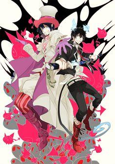 Mephisto & Rin   Ao no Exorcist   blue exorcist