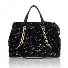 Elegant Stylish Casual Sequins and Metal Chain