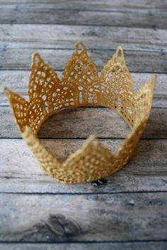 Gold Lace Crown, perfect for newborns as a photo prop or girls for dress up. $9.99, via Etsy.