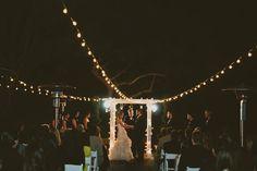 Night wedding ceremony  //  jackiewondersblog.com