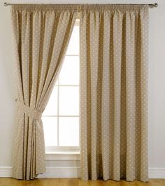 Bedroom Curtain Ideas to Set the Air and Light Inside: Terrific Bedroom Curtain Ideas With Curtain Pole Laminate Flooring And Curtain Holdback Also Glass Window Sundour Dotty Bedroom Blackout Curtains Soft Grey Wall Inspirations ~ workdon.com Home Accessories Inspiration