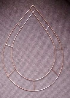 diy wire wreath form 15 chaplettear droppear - Wire Wreath Frame Wholesale