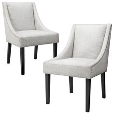 Griffin Nailhead Cutback Dining Chair Diamond Blue/Gray (Set of 2)
