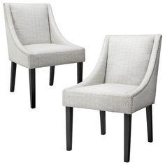 Griffin Nailhead Cutback Dining Chair Diamond Blue/Gray (Set of 2)