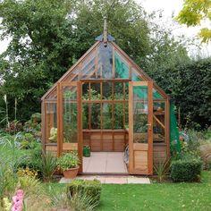 Gabriel Ash Wisley Series Greenhouse - Wood Frame Greenhouses #conservatorygreenhouse