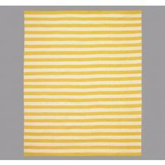 DwellStudio Home Draper Stripe Citrine/Cream Rug At DesignPublic.com