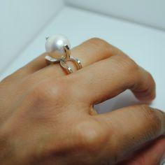 Rectangle square ring - 925 sterling silver shop.larissalandinez.com
