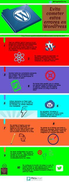 Evita cometer estos errores en WordPress | Apasionada de las Redes Sociales