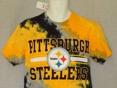 Pittsburgh Steelers Tee Shirt MENS Sizes NFL Team Apparel New Tie Dye Black d9a0b7743