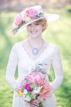 I've never met a styled shoot I didn't want to swoon, but this Kentucky Derby bridal shower takes that love to a whole new level. And what's even better than playful pastels, pretty pink florals and those wide brimmed hats