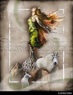 Capricorn ... ZODAIC Fairy Fantasy by mysticmoonmedia on Etsy