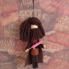 Hagrid Clothespin Doll Ornament