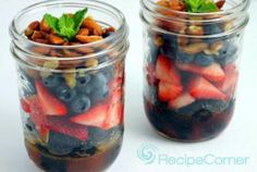 Triple Berry and Nut Salad in a Jar Recipe