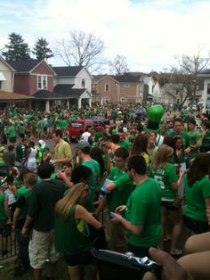 University of Dayton takes no. 1 for the college campus to be at on St. Patricks Day