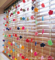 Flower Bookmark and Decorations ~ Amigurumi crochet patterns ~ K and J Dolls / K and J Publishing Crochet Home, Free Crochet, Knit Crochet, Plastic Bottle Crafts, Crochet Curtains, Curtain Styles, Homemade Christmas, Crochet Flowers, Easy Diy