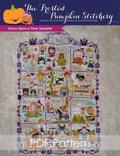 Once Upon a Time Sampler PDF Cross Stitch Pattern
