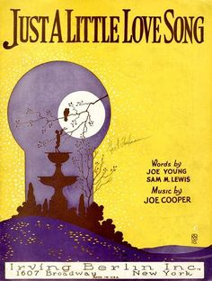 vintage sheet music- 'Just a Little Love Song'