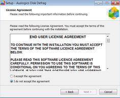 Installare Auslogic Disk Defrag - Licenza