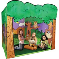 Keep the kids happy in this camp out adventure play tent. Outdoor playhouse features an imaginative camp background.  Kids will love playing out adventures with this camp out adventure play tent. $38.99