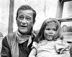 "John Wayne's Alamo Movie Set | John Wayne with daughter Aissa on the set of ""The Alamo"""