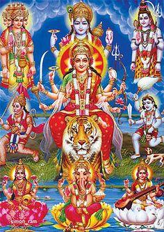 Navratri Puja will help you overcome all your negativities. Flourish with wealth on this Navratri by offering Homam to Lakshmi, Saraswathi & Durga. Durga Kali, Kali Hindu, Shiva Shakti, Durga Goddess, Hindu Art, Navratri Greetings, Navratri Wishes, Durga Images, Lakshmi Images