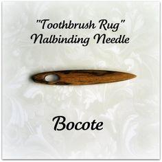 Bocote Nalbinding Toothbrush Rug Making by GrizzlyMountainArts