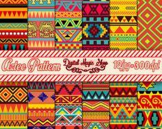 12 Seamless Black And White Aztec Digital by DigitalMagicShop