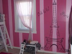Paris Bedding Theme For Girls | Paris Theme, I designed this room using all the ides right here on ...