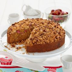 Check out Rhubarb Crumble Cake on myfoodbook