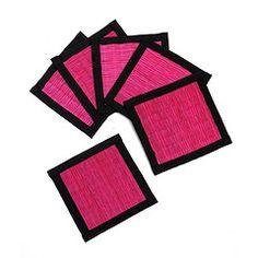 Hot Pink drinks coasters - brighten up your table!    from nomliving.com