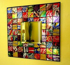 Recycled Soda Can Mosiac Tile Mirror – awesome!