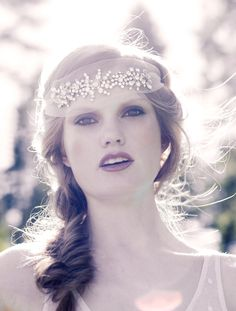 Crystal tulle headband -Willow by Tanyanibhroin on Etsy https://www.etsy.com/listing/153213952/crystal-tulle-headband-willow