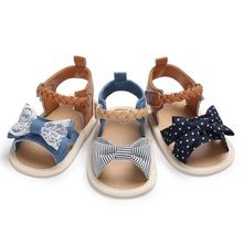 602c75dc5a79 Baby Shoes Baby Girl Sandals Summer Cotton Canvas Dotted Bow Baby Girl  Sandals Hotborn Baby Shoes Outdoor Play Beach Sandals