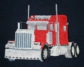 $20 SEMI Truck Themed Personallized Embroidered T-Shirt