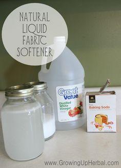 homemade fabric softener - www.GrowingUpHerbal.com