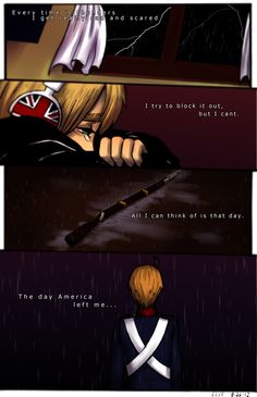 APH:England: Rainy memories. by fliff.deviantart.com on @deviantART. Dude, I haven't even watched this series but this still makes my heart cry! :(