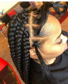 Cornrows braided hairstyles 2019 25 big box braids cornrows that will make you stand out correct kid boxbraidshairstyles braidedbob Big Box Braids Hairstyles, Braided Hairstyles For Black Women, African Braids Hairstyles, Black Hairstyle, Large Box Braids, Long Braids, Jumbo Box Braids, Box Braids For Kids, Side Braids