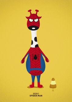 Super Giraffes | Spider man