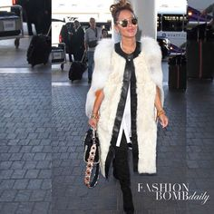 Beauty @adriennebailon donned a white fur coat and headlined our Fabulous Looks of the Day gallery. Thoughts? By @gigiandninidesigns #fashionbombdaily #fashion #style #instastyle #instafashion #celebritystyle #realstyle #adriennebailon