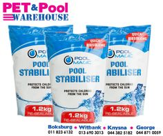 The #PoolMagic Pool Stabiliser protects your pool's chlorine from the sun's harmful UV rays. Get it now at #PetPool Warehouse. #poolproducts