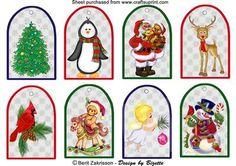 Christmas tags 4 on Craftsuprint - Add To Basket!