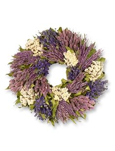 SPRING MEADOW VIOLET WREATH