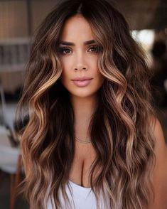 Hot Hair Colors, Fall Hair Colors, Beautiful Hair Color, Hair Color Dark, Fall Hair Color For Brunettes, Beautiful Haircuts, Hair Color Highlights, Balayage Hair, Hair Inspiration